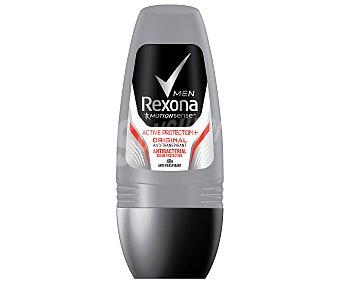 Rexona Desodorante roll on para hombre con acción anti transpirante, olor y bacterias active protection+ Roll on 50 ml