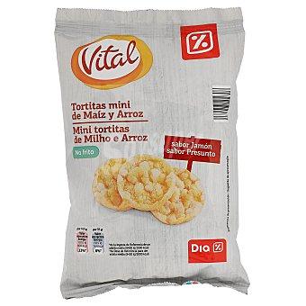 DIA Tortitas mini de maíz y arroz sabor jamón  paquete 75 gr