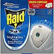 Insecticida volador eléctrico Night & Day mosquitos comunes y tigre recambio caja 2 unidades Caja 2 unidades Raid