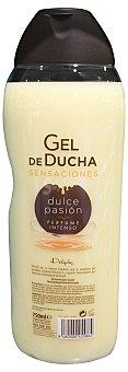 Deliplus Gel baño dulce pasión (Perfume intenso) Botella de 750 cc