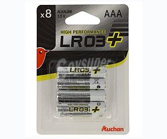 Auchan Pilas alcalinas LR03 x Power 8 unidades