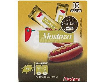 Auchan Mostaza en monodosis 15 Unidades de 6 Gramos