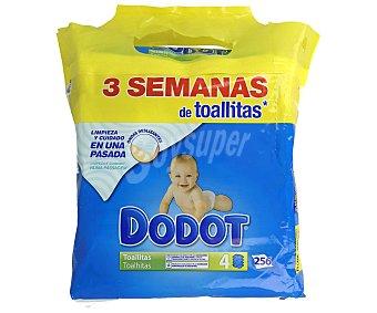 Dodot Toallitas húmedas para bebé 4 x 64 uds