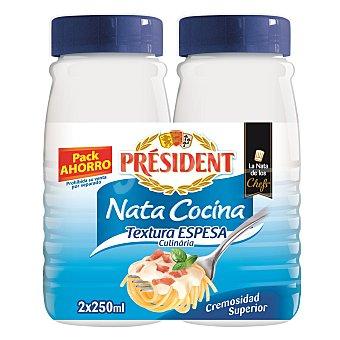President Nata espesa para cocinar Pack 2 x 250 ml