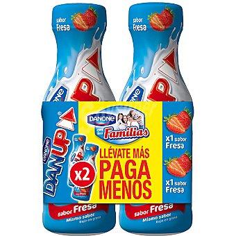 Danone Yogur líquido sabor fresa Pack 2 envase 600 g