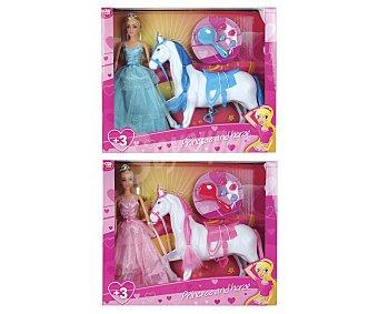 MUÑECAS Conjunto de muñeca fashion Princesa con caballo y accesorios, muñecas