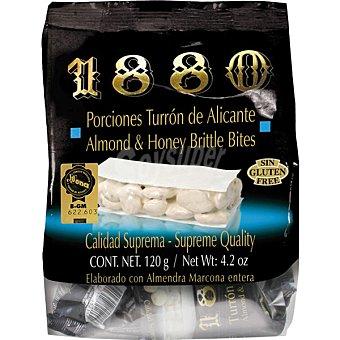 1880 Porciones de turron de Alicante Calidad Suprema bolsa 120 g bolsa 120 g