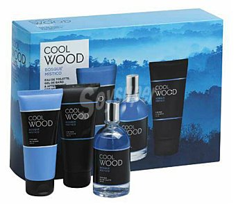 COOL WOOD LOTE HOMBRE EAU TOILETTE 100 ml + GEL BAÑO 150 ml + AFTER SHAVE 100 ml u