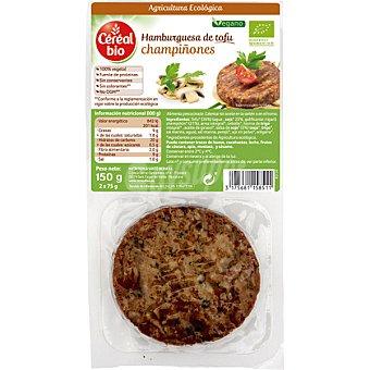 Cereal Bio Hamburguesa vegetal de tofu y champiñones ecológica  envase 150 g