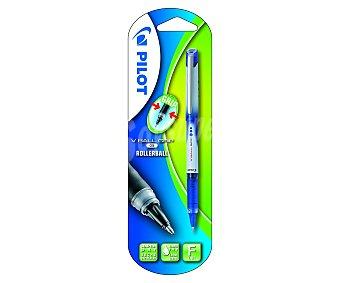 Pilot Bolígrafo del tipo roller de grip suave, punta fina con grosor de escritura de 0.5 milímetros, tinta líquida azul de secado rápido 1 unidad