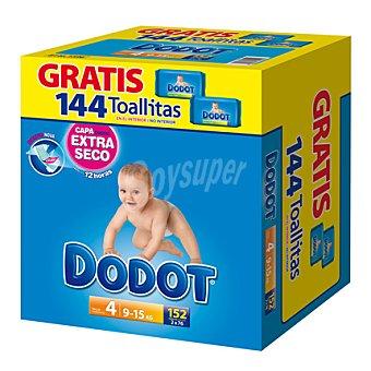 Dodot Caja Pañal T4 + (9-15 kg.) + regalo 144 toallitas 154 ud