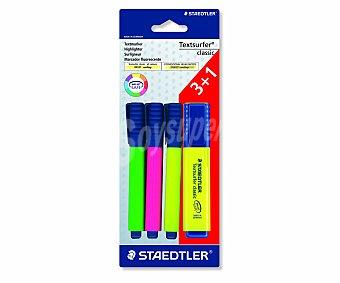 Staedtler Lote de 4 marcadores fluorescescentes de diferentes colores 1 unidad