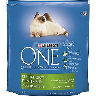 ESPECIAL Gatos de interior con pavo y arroz Paquete 1,5 kg