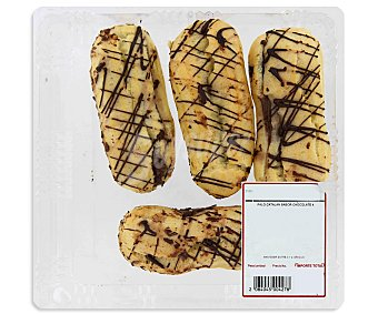 PASTELERÍA Eclairs rellenos de crema al cacao 4 unidades 260 gramos 300g 4u