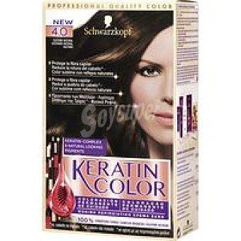 Keratin Color Schwarzkopf Tinte castaño natural N.4 Caja 1 unid