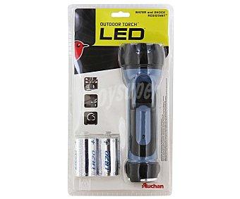 AUCHAN Linterna de Uso Exterior 1 Led, Resistente al Agua 1 Unidad