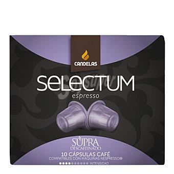 Candelas Café de origen Arábica descafeinado Selectum Espresso en cápsulas 10 ud
