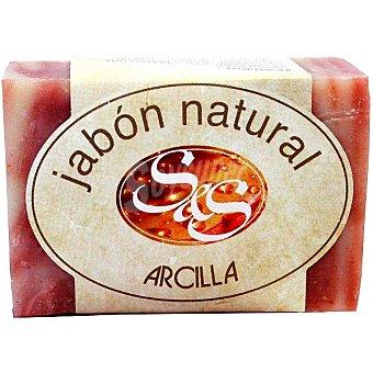 S&S Pastilla de jabón natural de Arcilla 100 g