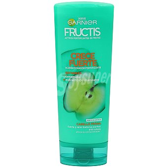 Fructis Garnier Acondicionador fortificante sin parabenos, para cabello frágil crece fuerte Bote 250 ml