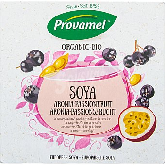 Provamel Bio postre de soja ecológico sabor aronia y fruta de la pasión pack 4x125 envase 500 g Pack 4