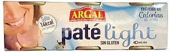 Argal Paté hígado bajo calorías Pack 3 u de 80 g (240 g)