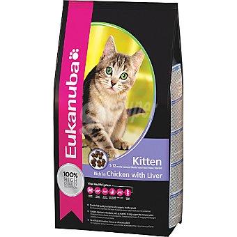 EUKANUBA KITTEN alimento completo para gatitos hasta 12 meses con pollo e hígado  bolsa 4 kg