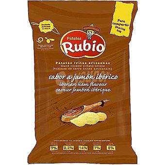 Patatas Rubio Patatas fritas artesanas con sabor a jamon iberico bolsa 140 g Bolsa 140 g