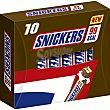 Barritas de chocolate con caramelo y cacahuetes Envase 10 unidades Snickers
