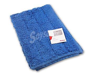 AUCHAN Alfombra de rizo 100% algdón, 1200 g/m², color azul, 40x60 centímetros 1 Unidad