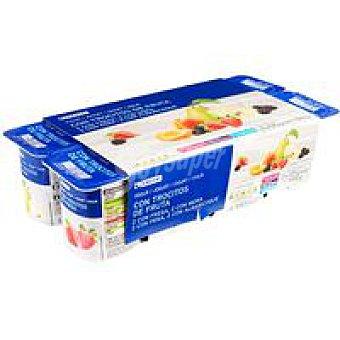 Eroski Yogur con fresas-albaricoque-pera-mora Pack 8x125 g