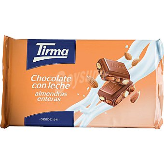 Tirma Chocolate con leche y almendras enteras Tableta 300 g