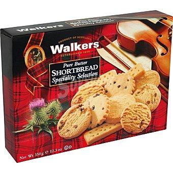 WALKERS Shortbread Selección galletas de mantequilla surtidas Estuche 350 g