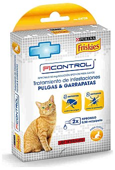 Friskies Purina Pipetas insecticidas gato ficontrol Pack 2x0.50 ml