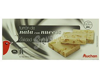 Auchan Turrón de nata con nueces 300 gramos