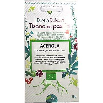 Dieta Dunkan Caramelos de tisanas con extractos de acerola envase 15 g 25 unidades