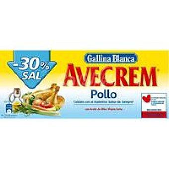 Avecrem Gallina Blanca Bajo en sal pollo Caja 162 g