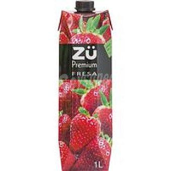Zü Premium Bebida de fresa Brik 1 litro