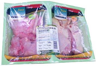 Cunicarn Arreglo paella troceado fresco (pollo,conejo) Bandeja 1 kg