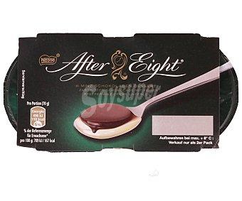 After Eight Nestlé Postre de menta con chocolate 2 unidades de 70 gramos