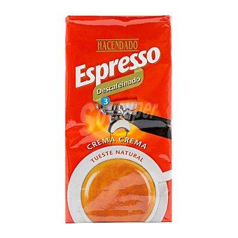Hacendado Cafe molido espresso descafeinado Nº 3 Paquete 250 g