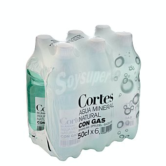 Cortes Agua con gas Pack 6 x 500 ml - 3 l