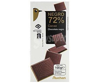 Auchan Tableta chocolate negro 72 % amargo 100 g