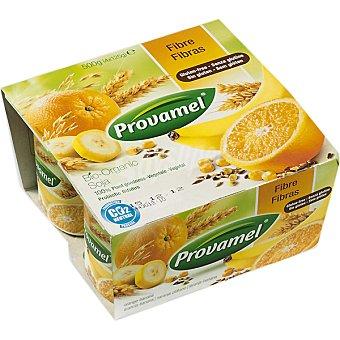 PROVAMEL Bio Soya Yofu Fresco con fibras naranja y plátano sin gluten 4 unidades envase 500 g 4 unidades
