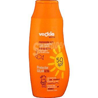 Veckia Protector solar niños con protector del ADN y vitamina E FP-50 Frasco 250 ml