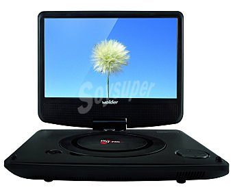 "WOLDER W9 PRO Reproductor DVD portátil Multiformato, pantalla 9"" giratoria, lector de tarjetas, usb,"