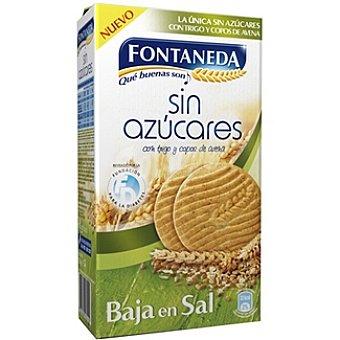 Fontaneda Galletas bajas en sal sin azúcares con trigo y copos de avena Estuche 315 g