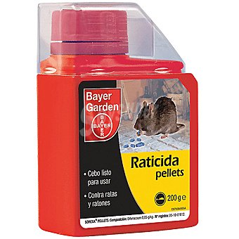BAYER GARDEN Pellets Raticida listo para usar contra ratas y ratones Envase 200 g