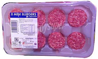 VARIOS Hamburguesa vacuno mini burger meat fresco Bandeja 8 u - 200 g