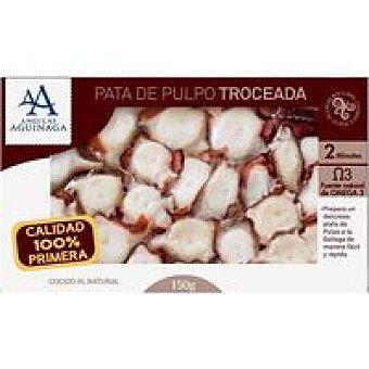 Angulas Aguinaga Pulpo cocido troceado Bandeja 200 g