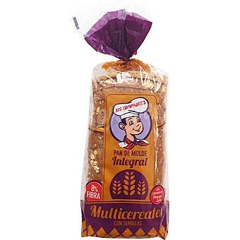 Los Compadres pan de molde integral multicereales con semillas 8% fibra Bolsa 315 g